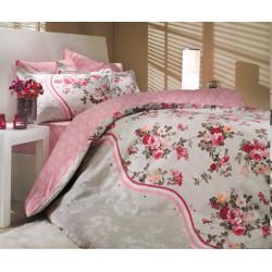 Постельное белье евро Hobby Poplin Susana розовый