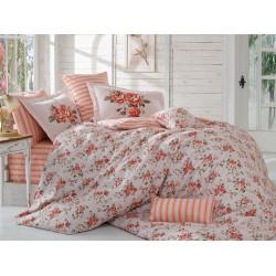 Постельное белье семейное Hobby Poplin Flora персиковый