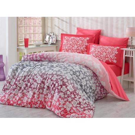 Постельное белье семейное Hobby Poplin Mira розовый