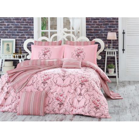 Постельное белье семейное Hobby Poplin Ornella розовый