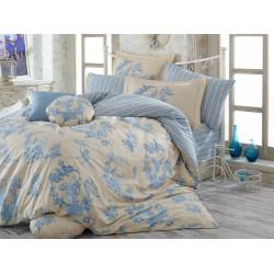 Постельное белье семейное Hobby Poplin Vanessa голубой