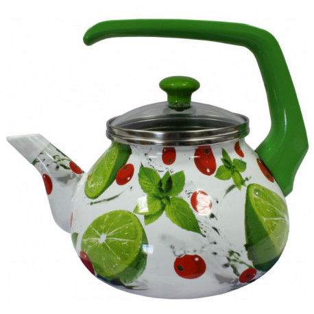 Чайник эмалированный 2,2л Interos Мохито 3033