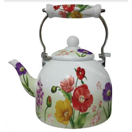 Чайник эмалированный 2л Interos 1 L GREEN
