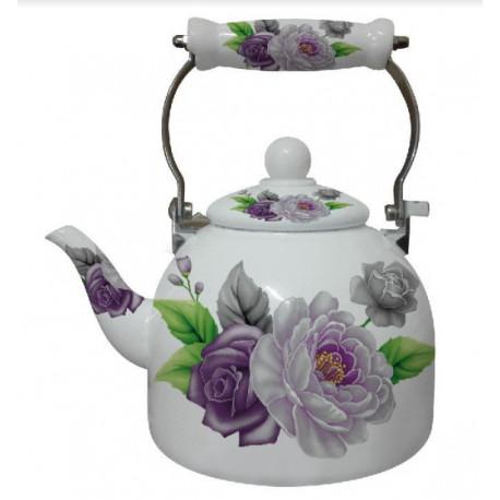 Чайник эмалированный 2л Interos 2 L VIOLET