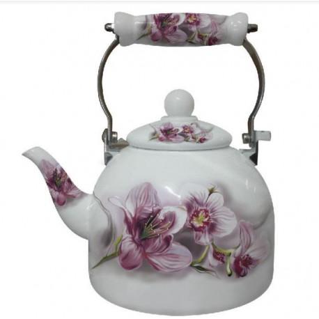 Чайник эмалированный 2л Interos 5 L PINK