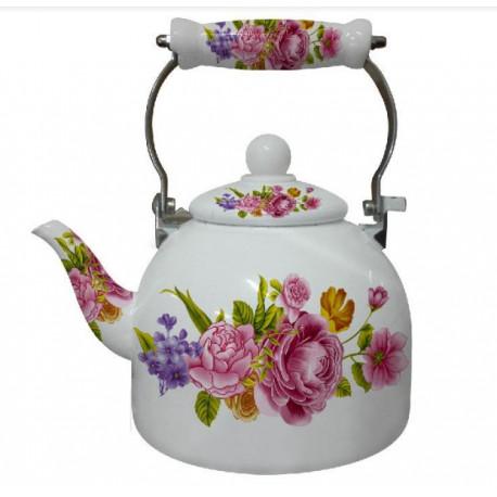 Чайник эмалированный 2л Interos 7 L  PINK
