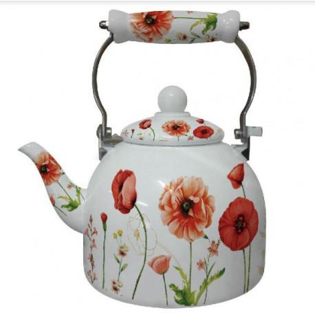 Чайник эмалированный 2л Interos 12 L  RED