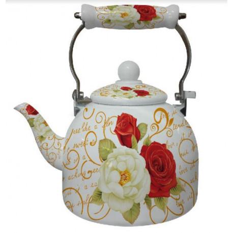 Чайник эмалированный 2л Interos 14 L  WHITE