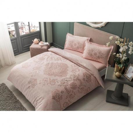 Постельное белье евро Tac сатин - Carissa pembe v51 розовый