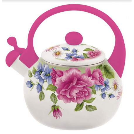 Чайник эмалированный 2,2л Interos 22/L PINK