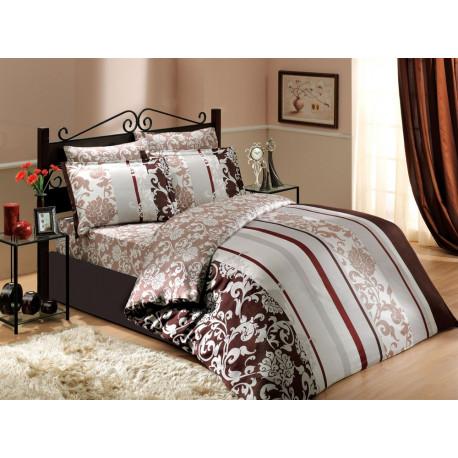 Постельное белье семейное Hobby Exclusive Sateen Oriental коричневый
