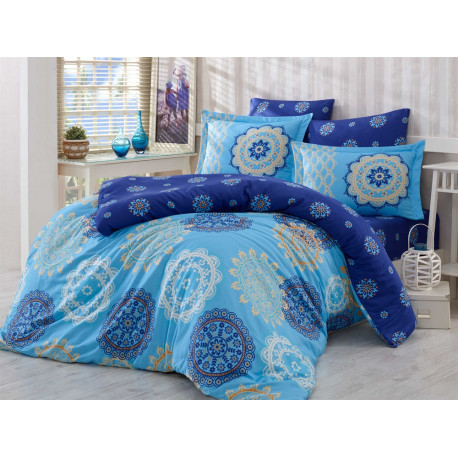 Постельное белье семейное Hobby Exclusive Sateen Ottoman голубой