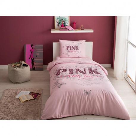 Постельное белье подростковое Tac Ranforce Teen - Pink pembe розовый