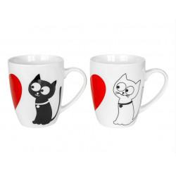 """Набор кружек 2шт """"CATS in LOVE"""" 360мл Keramia (21-272-081)"""
