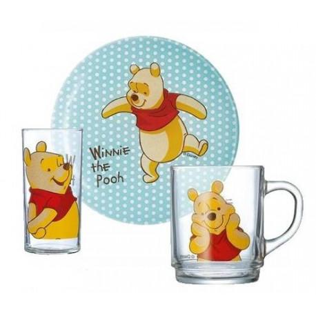 Luminarc Disney Winnie Colors.Набор д-детей(кр.250мл,тар.19см,стак.270 мл)-3пр H5307