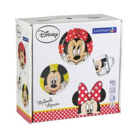Luminarc Disney Oh Minnie.Набор д-детей(кр.250мл,тар.19см,салат.16см)-3пр H6446