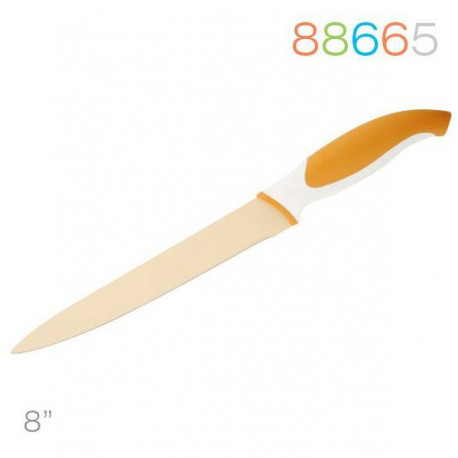 Нож 20 см для мяса оранжевый Granchio 88665