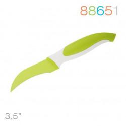 Нож Granchio д/овощей  изогнутый, зеленый 88651