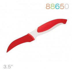 Нож Granchio д/овощей  изогнутый, красный 88650