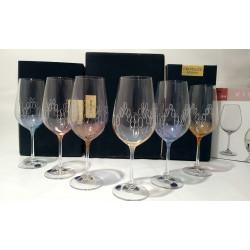 Набор бокалов для вина 550 мл Bohemia Viola Rainbow круг