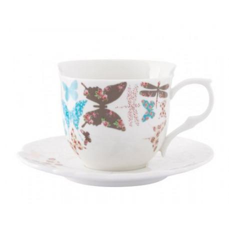 Чашка с блюдцем 200 мл Krauff Butterfly 21-252-029