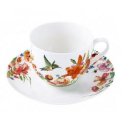 Чашка чайная с блюдцем 230мл Krauff Colibri 21-244-036