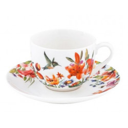 Чашка кофейная с блюдцем 100мл Krauff Colibri 21-244-037