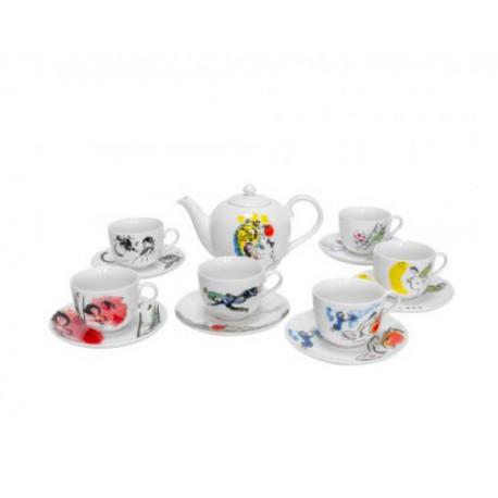 Сервиз чайный 13пр Krauff Chagall 21-244-100