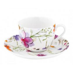 Чашка с блюдцем 230мл Krauff Aquarelle 21-244-009