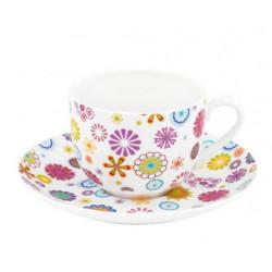 Чашка с блюдцем 230мл Krauff Blumen 21-244-014