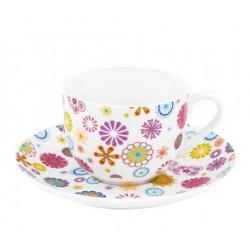 Чашка с блюдцем 100мл Krauff Blumen 21-244-015