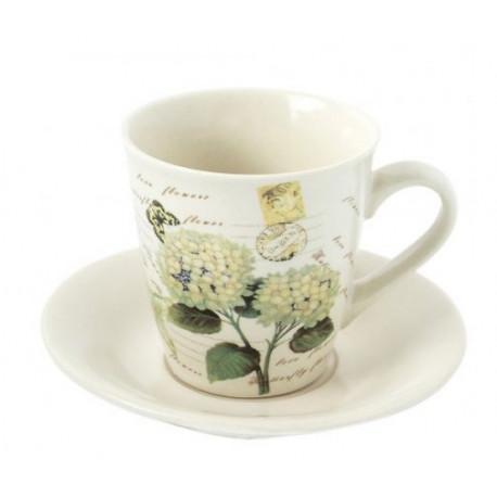 Чашка с блюдцем 150 мл Krauff Hortensie 24-269-052