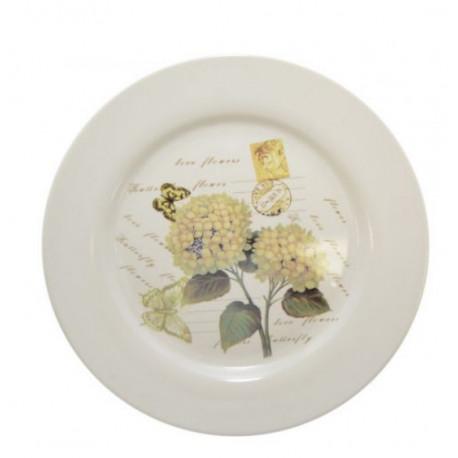 Тарелка обеденная 22,5см Krauff Hortensie 24-269-064