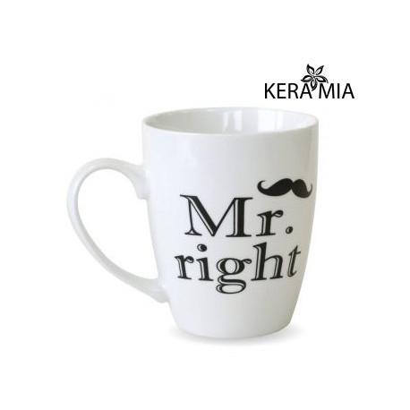 Кружка 360 мл Keramia Mr. right 21-272-049