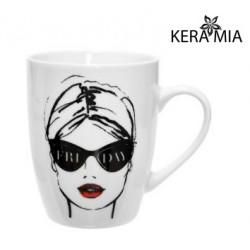 Кружка 360 мл Keramia Модная девушка 21-279-021