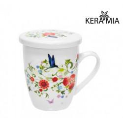 Кружка заварочная 360 мл Keramia Цветочный сад 21-279-002