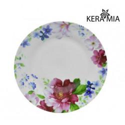 Тарелка обеденная 23см Keramia Шиповник K24-198-071