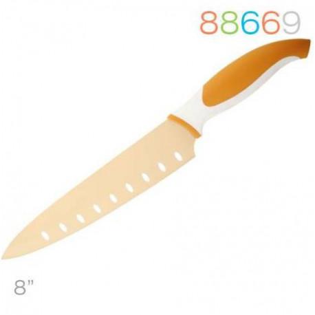Нож 20см поварской оранжевый Granchio 88669
