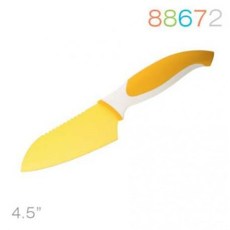 Нож 11,5 см сантоку желтый Granchio 88672
