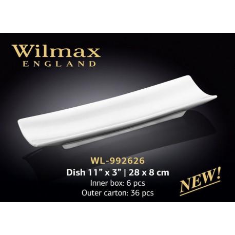 Блюдо прямоугольное Wilmax 28х8см WL-992626