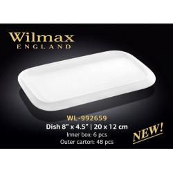 Блюдо прямоугольное Wilmax 20х12см WL-992659