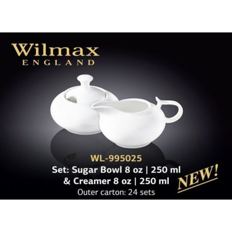 Набор сахарница и молочник-2пр Wilmax WL-995025