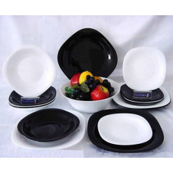 Сервиз столовый 19пр Luminarc Carine Black&White D2381