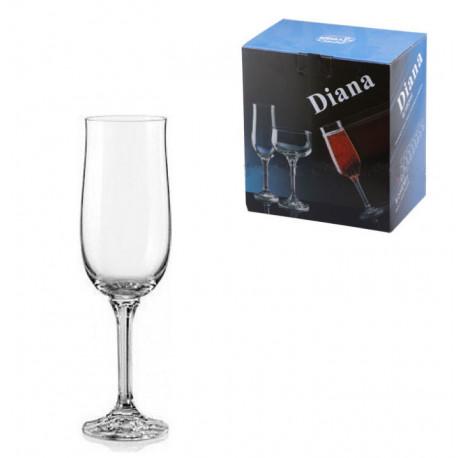 Набор бокалов для шампанского 180мл/6шт Bohemia Diana