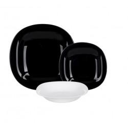 Сервиз столовый 18пр Luminarc Carine Black/White N1479