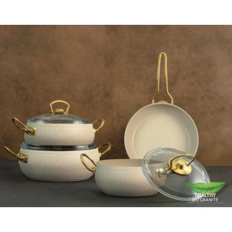 Набор посуды 7 пр Casa Royal Gold Beauty White G-UKR2020