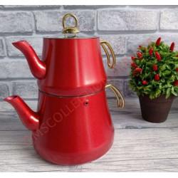 Чайник турецкий двойной (Чайданлык) 1,2/2,2 л OMS 8203-L-Red