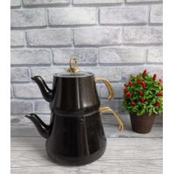 Чайник турецкий двойной (Чайданлык) 1,2/2,2 л OMS 8203-L-Black