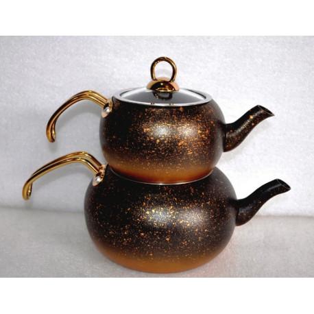 Чайник турецкий двойной (Чайданлык) 1,0л/2,0л OMS 8210-Bronze