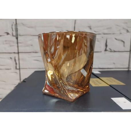 Набор стаканов для виски 340мл/6шт Bohemia Quadro Золотой Мёд